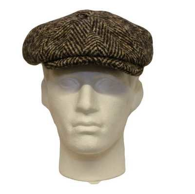 Olney Urban Chunky Herringbone Tweed Newsboy Cap