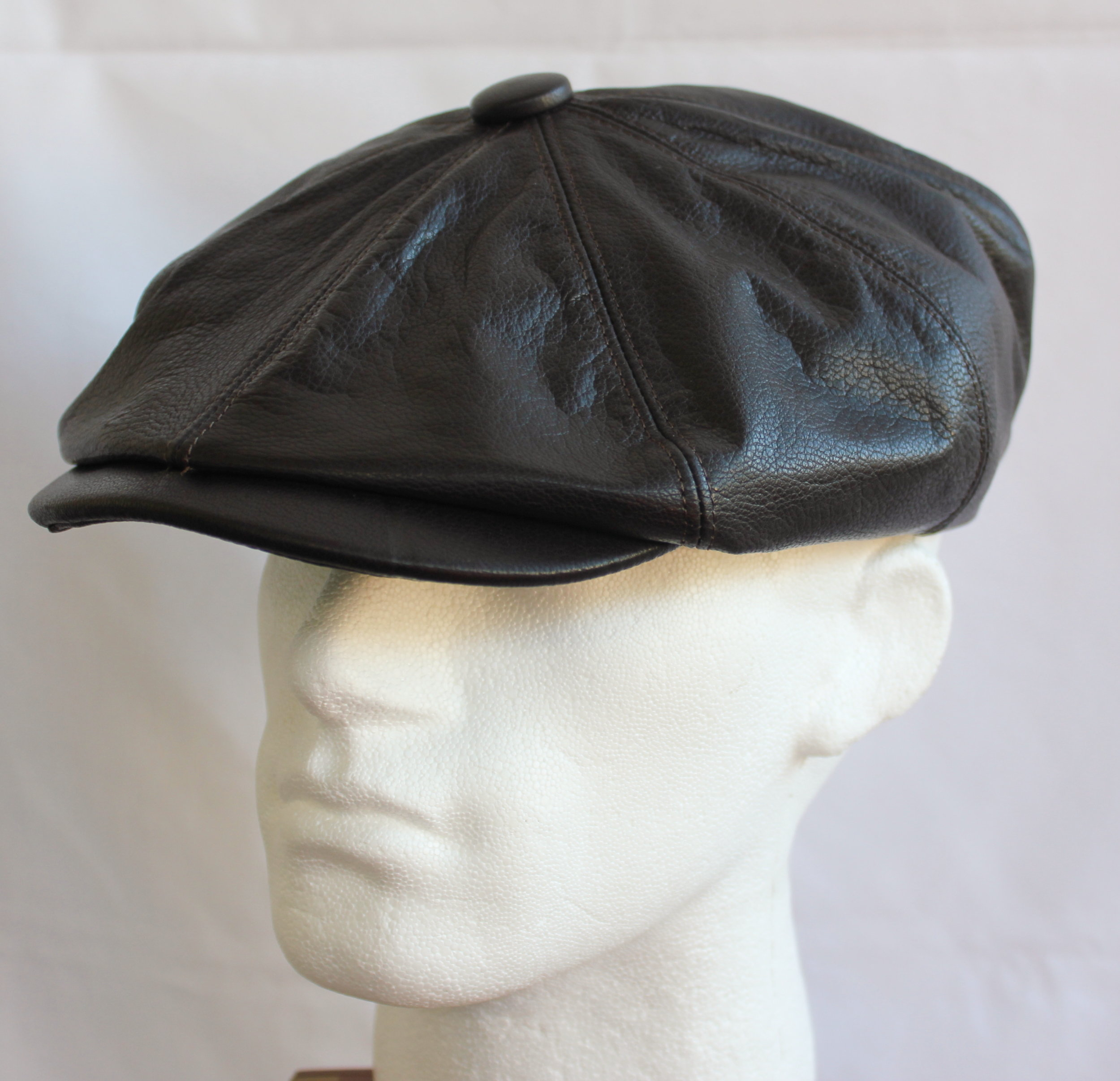 Olney Urban Leather Newsboy Cap R4722