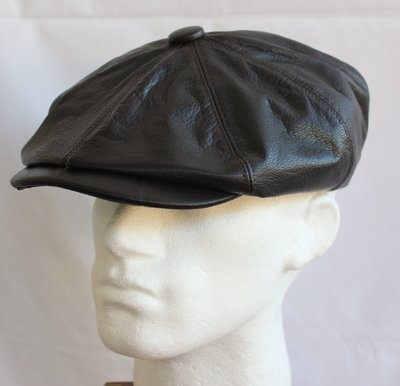 Olney Urban Leather Newsboy Cap
