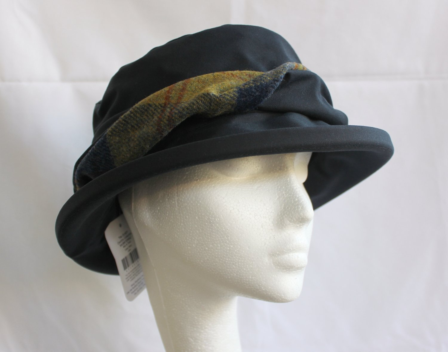 Olney Emma Waxed Cotton Ruched Brim Waterproof Hat