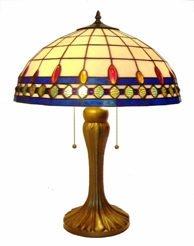 Grande 18 Inch Regal Tiffany Table Lamp BTRG18TL