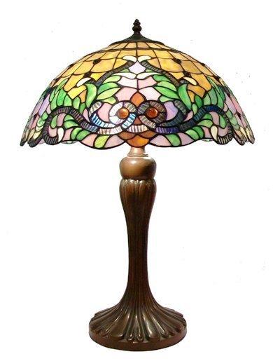 "Elegant 17"" Floral Leaf Design Tiffany table lamp BTMK17TL"