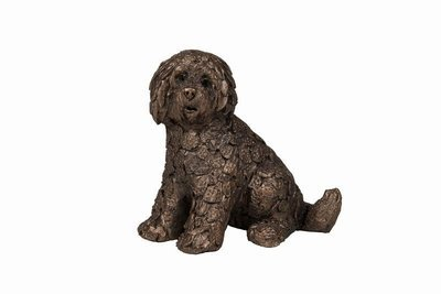 Shorty Labradoodle Sitting - Frith Sculpture