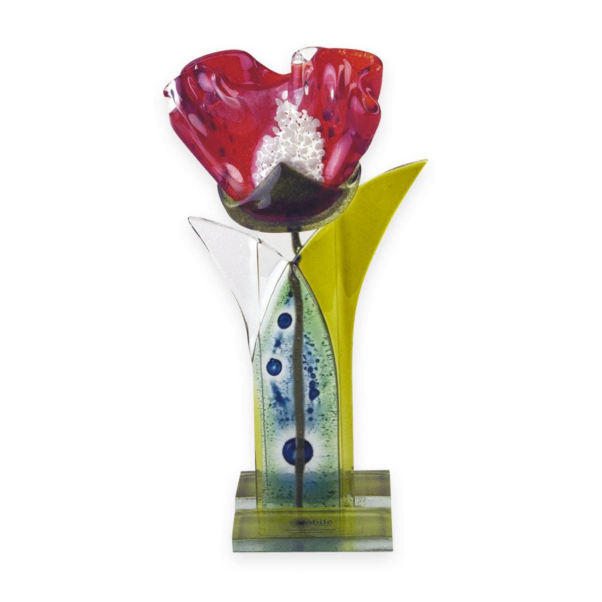 Nobile Fused Red Flower Stem -25cm