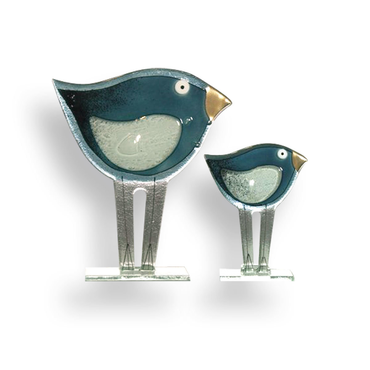 Nobile Glass Fused Glass Blue Bird Small 1324-15