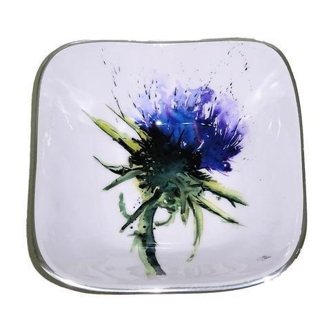 Meg Hawkins Thistle Square Bowl - 16cm 6610-TH