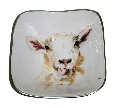 Meg Hawkins Sheep Square Bowl - 16cm 6610-SH