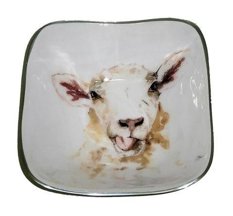 Meg Hawkins Sheep Square Bowl - 16cm