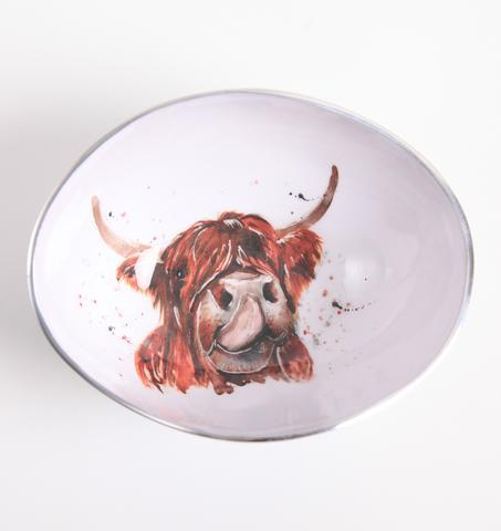 Meg Hawkins Highland Cow Oval Bowl - 18cm 9414-HC