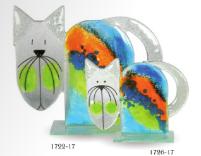 Nobile Fused Glass Cat 1722-17