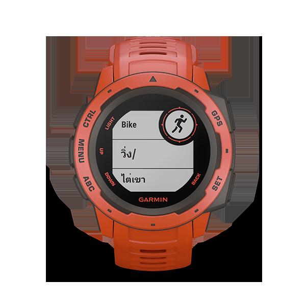 Garmin  Instinct  ฺBlack   นาฬิกาสายพันธ์อึด