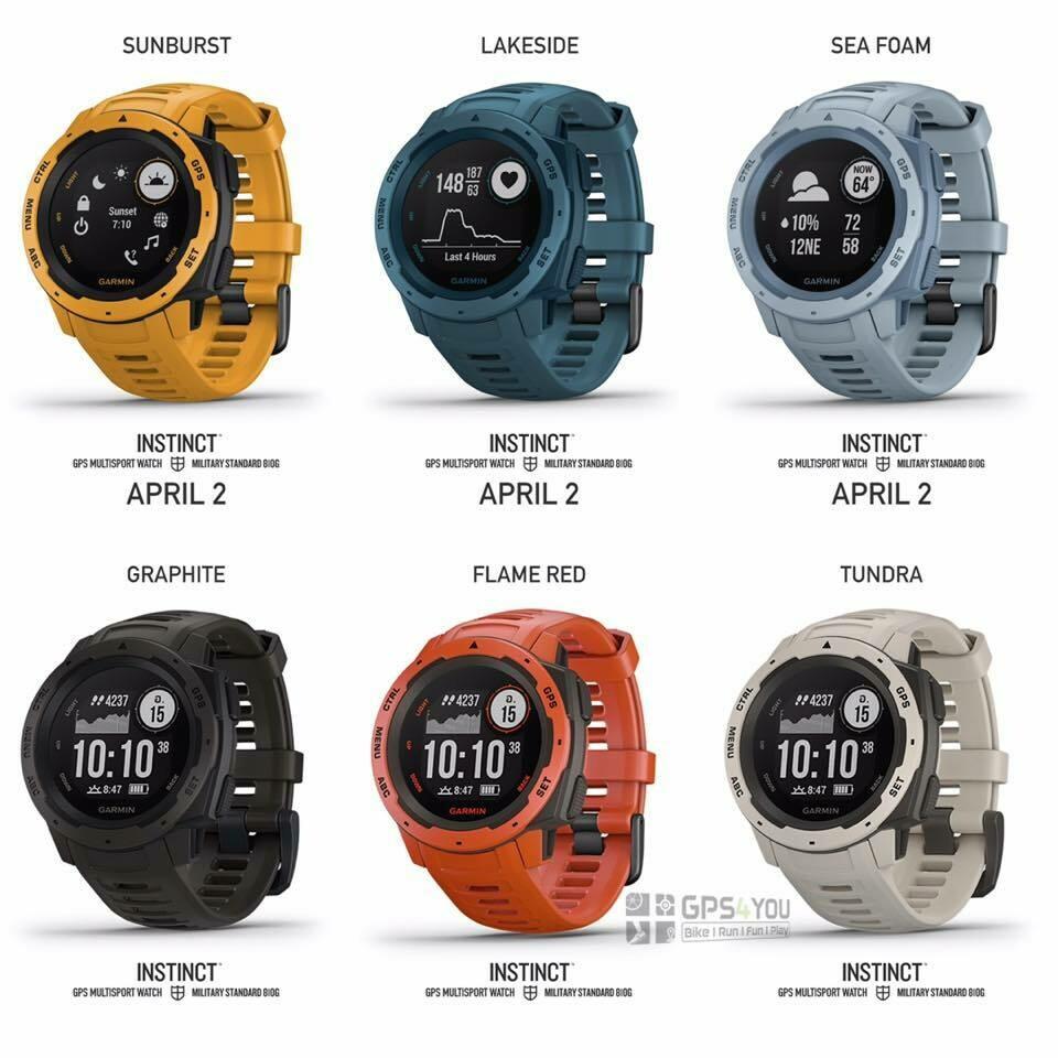 Garmin Instinct นาฬิกาจีพีเอส มัลติสปอรต์28ชนิด