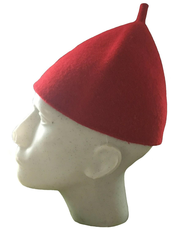 Zipfelhut/ Kappe flach, rot oder schwarz