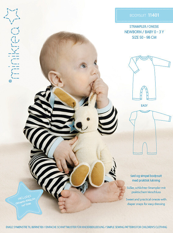 Sewing pattern for a Onesie