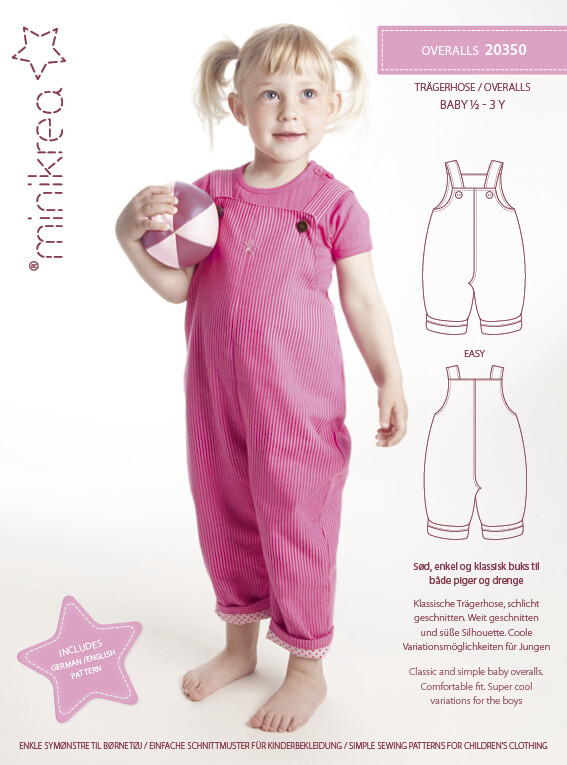 Sewing pattern for Overalls