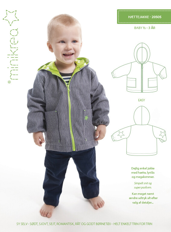 Sewing pattern Hooded Jacket