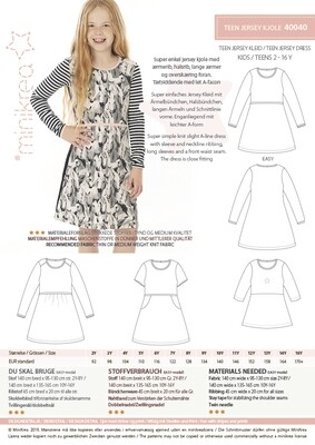 Sewing pattern for Jersey dress