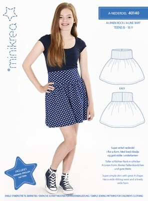 Sewing pattern for A-line Skirt
