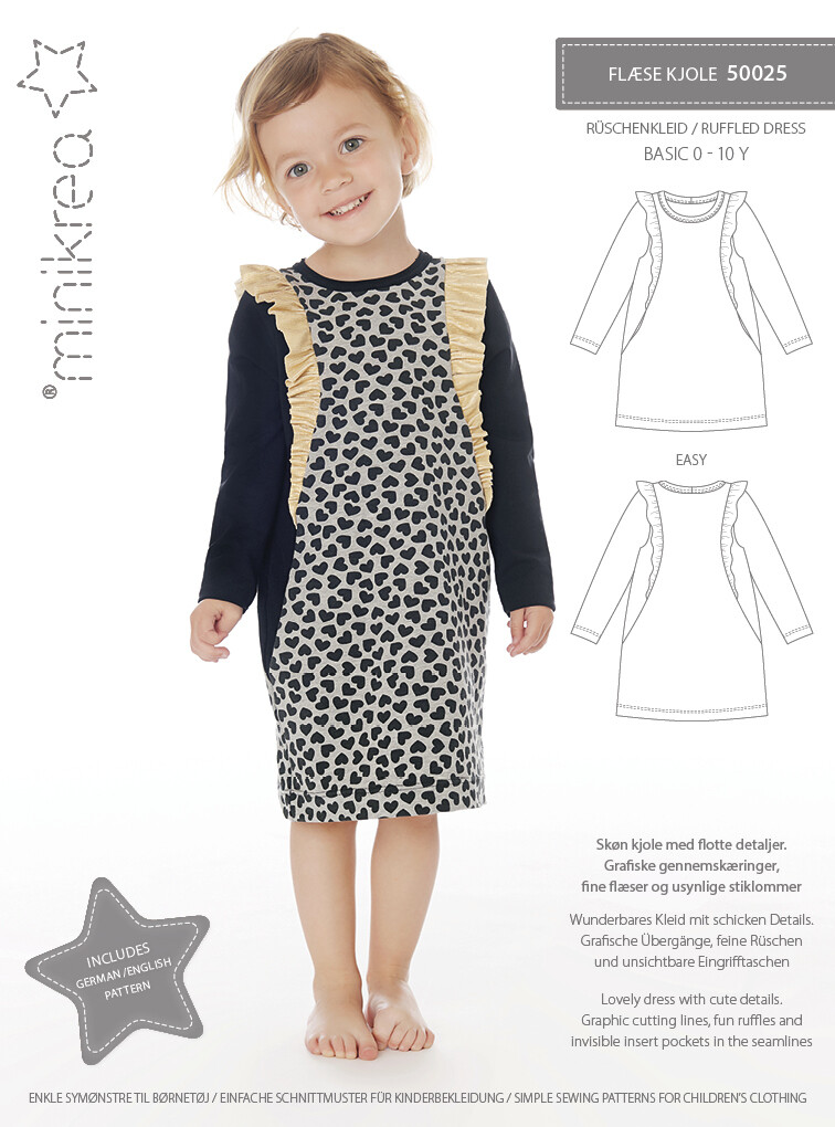 Sewing pattern for Ruffle dress