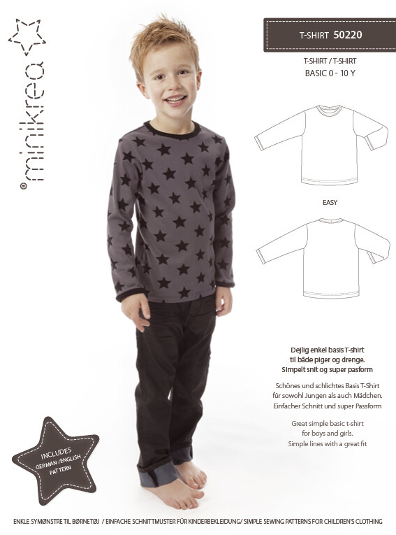 Sewing pattern for T-shirt