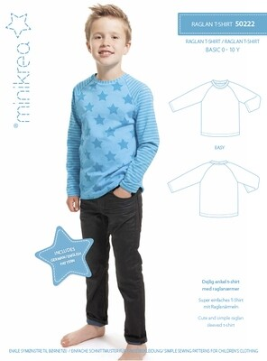 Sewing pattern for Raglan T-shirt