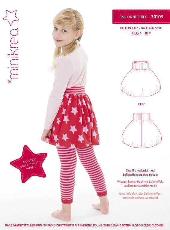 Sewing pattern for Balloon Skirt