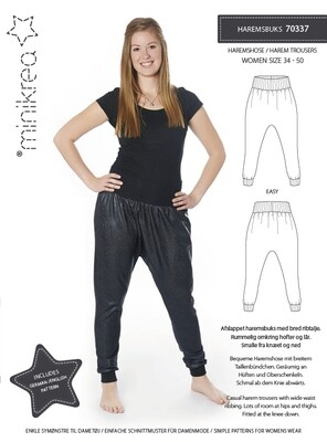 Sewing pattern for Harem Trousers