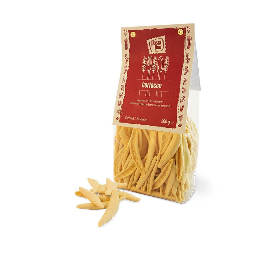 Traditionelle, italienische Pasta Cortecce - aus Hartweizengrieß (100g/0,76€)