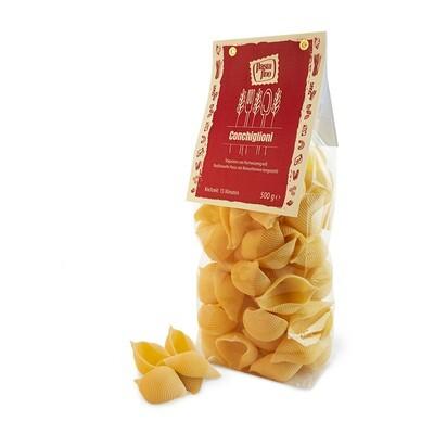 Traditionelle, italienische Pasta Conchiglioni - aus Hartweizengrieß (100g/0,70€)