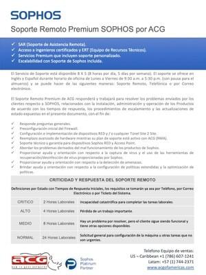 Soporte Remoto Premium Sophos  -  LATAM  (precio por hora)