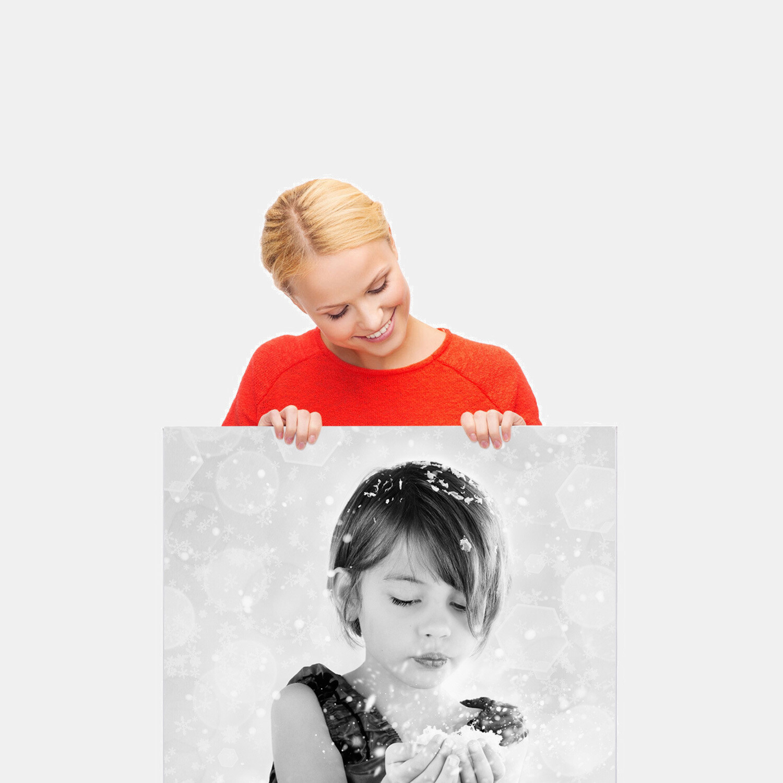 Mustavalkoinen 50x50-100 cm