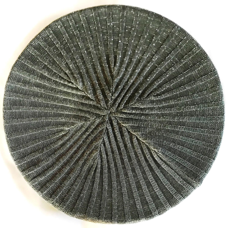 Gray lightweight lined beret/snood