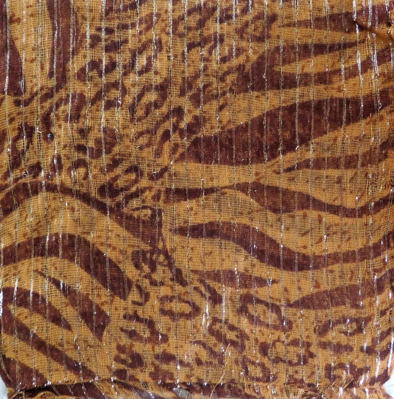 Brown animal print tichel