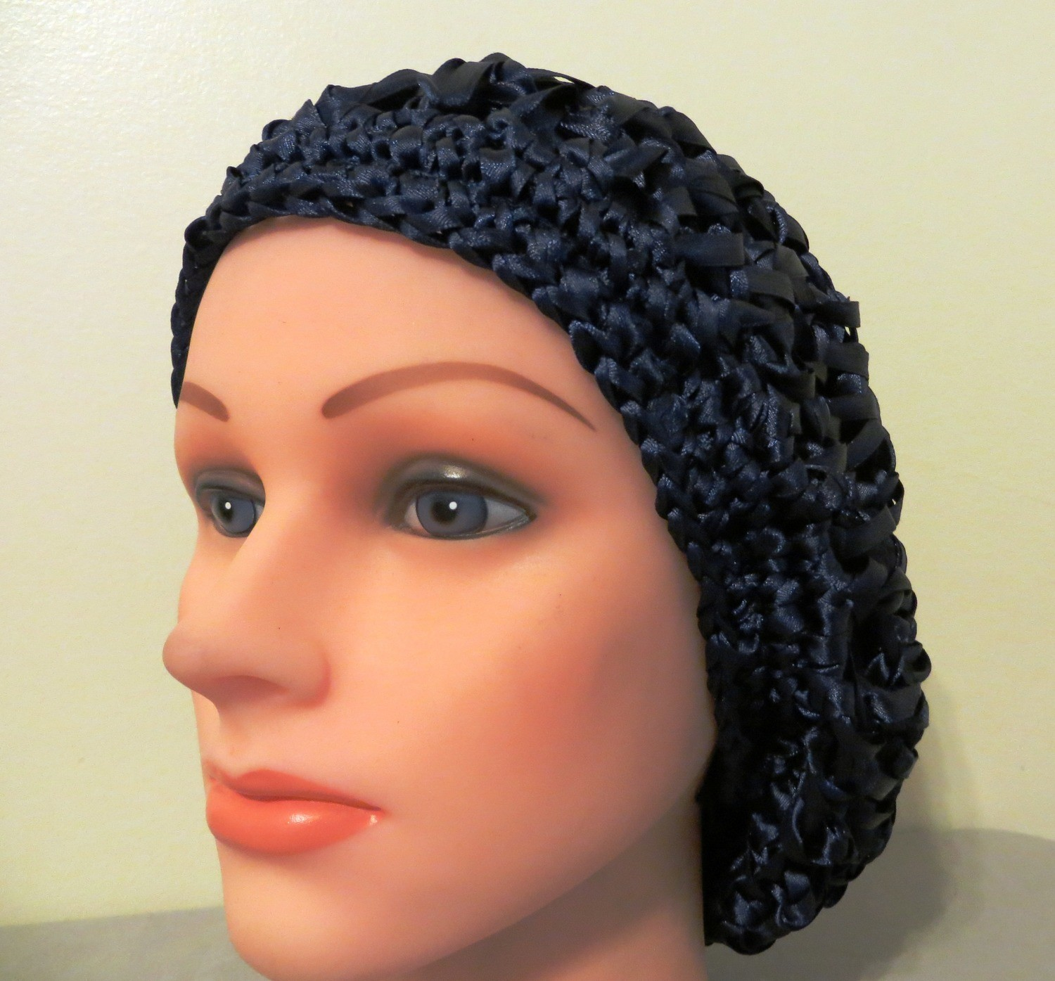 Ribbon snood royal blue color