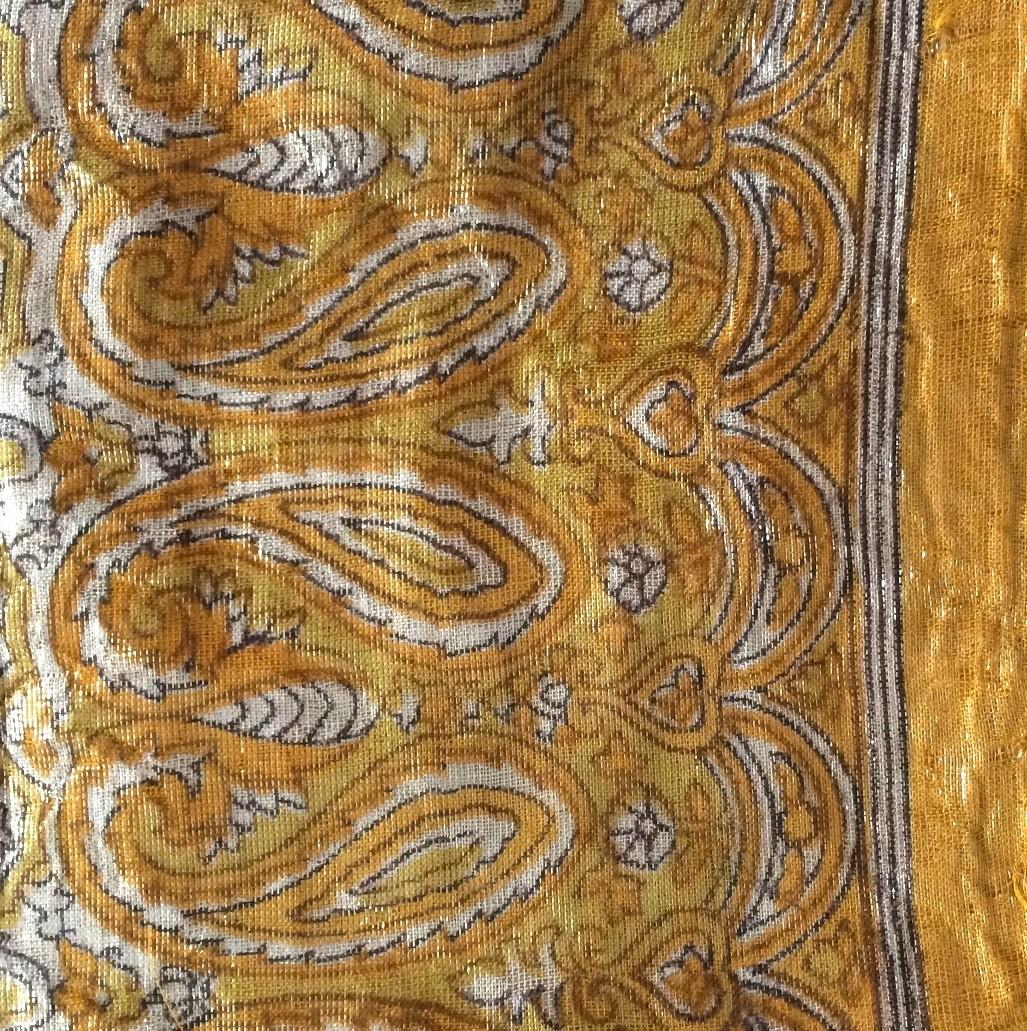 Mustard  shimmering head scarve