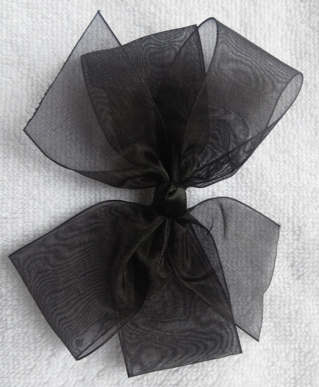 Black small organza bow