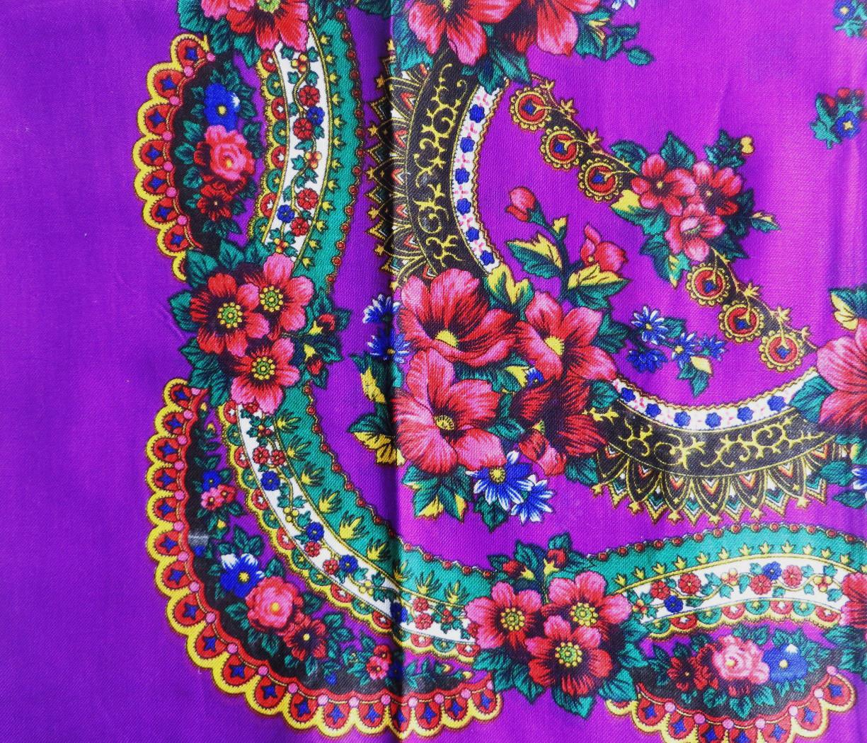 Bright purple vintage tichel