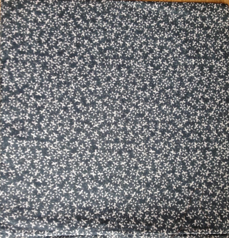 Mini flowers cotton tichel gray