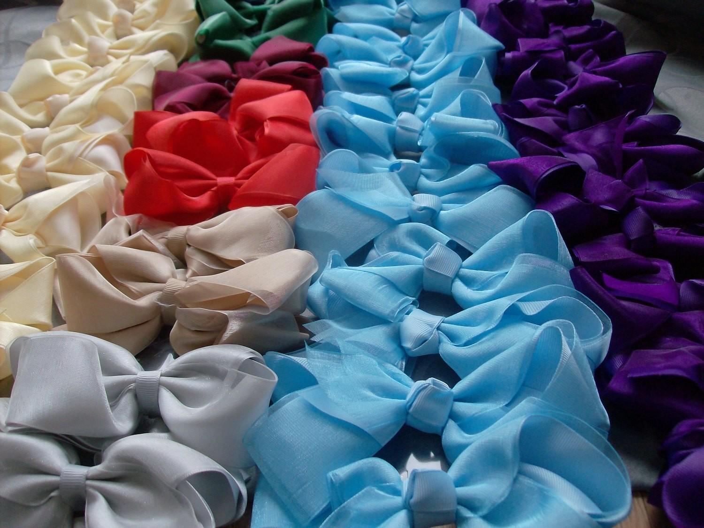 Taffeta bows