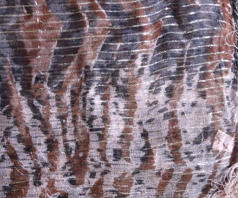 Brown and black basic animal print tichel