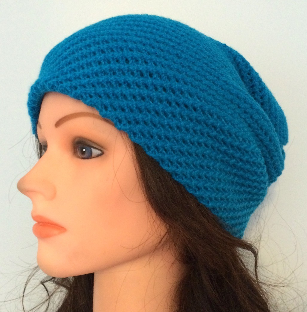 Aqua blue slouchy hat/beret