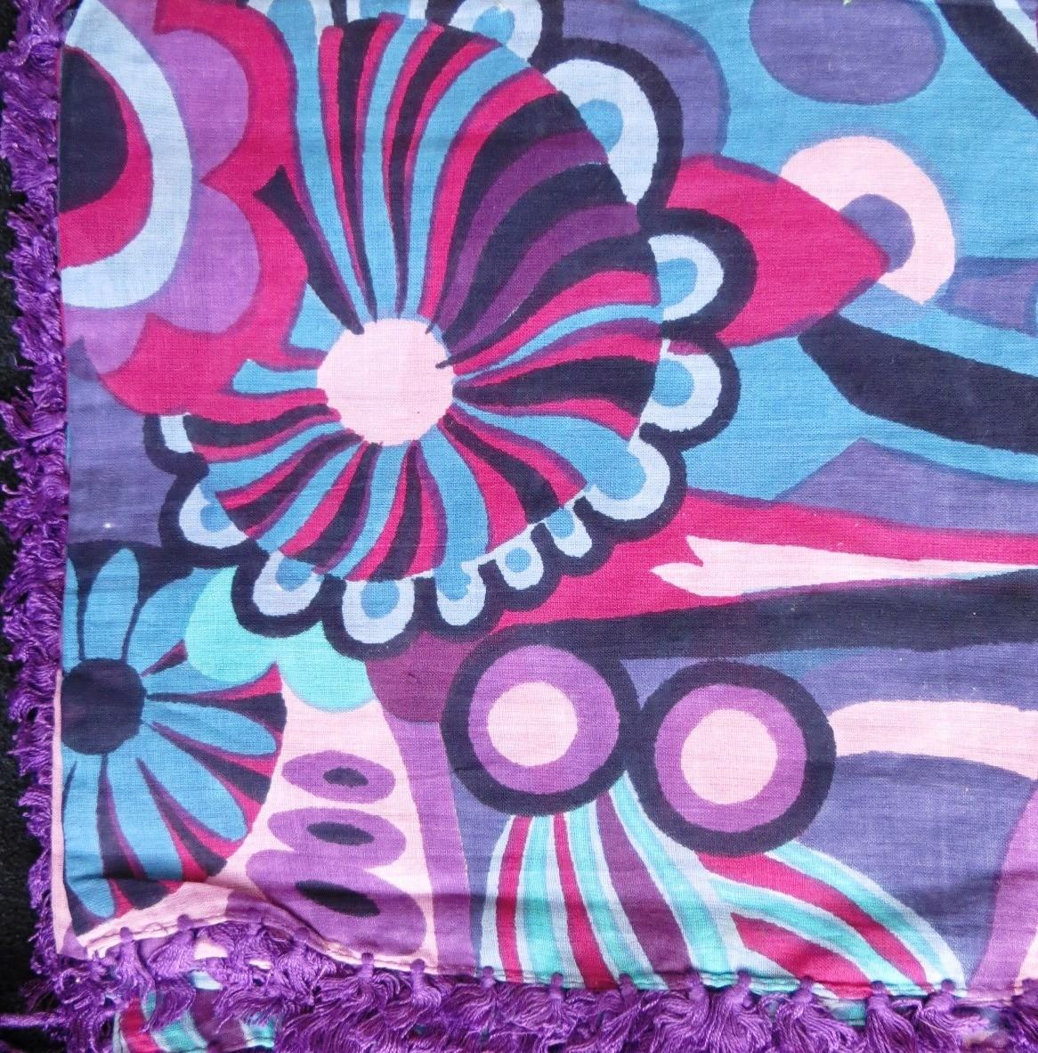 Purple, lavender, and more colors; extra fancy tichel