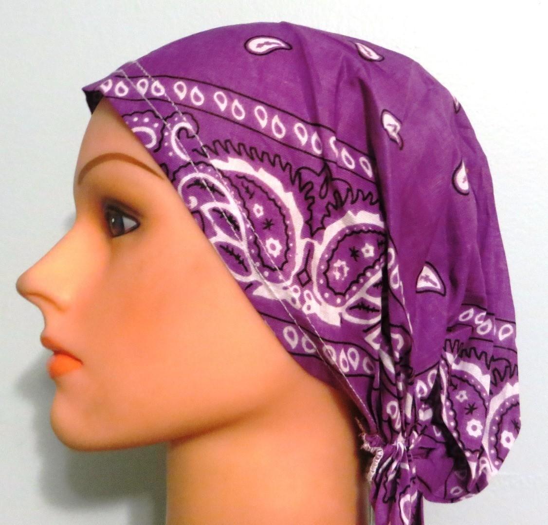Light purple pretied bandana