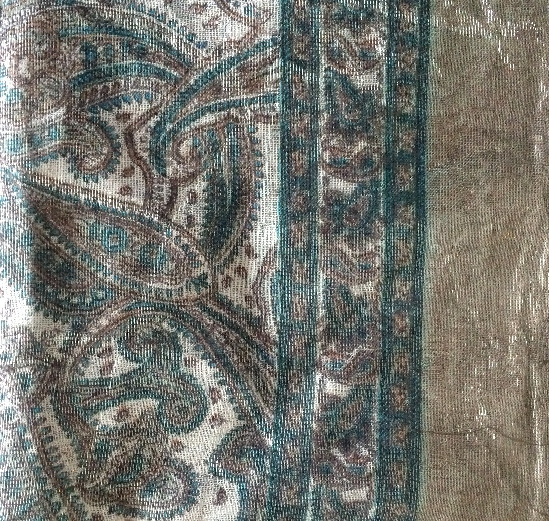 Taupe shimmer headscarve tichel