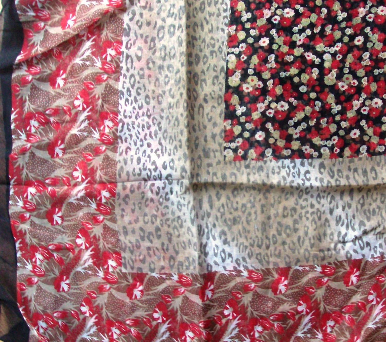 Black border silky style headscarve tichel