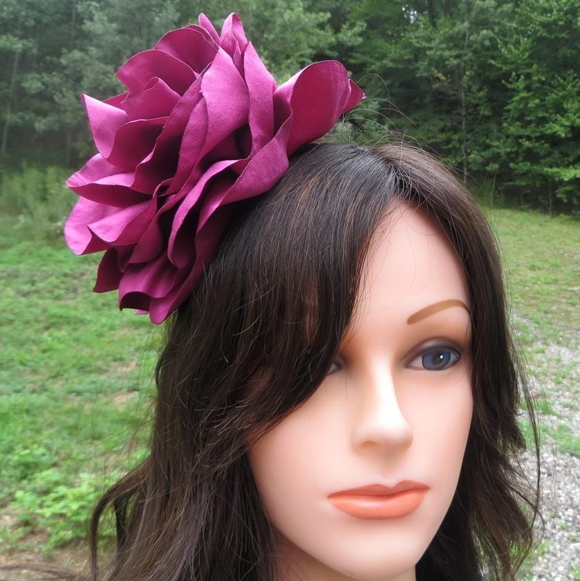 Fucsia extra large flower headband
