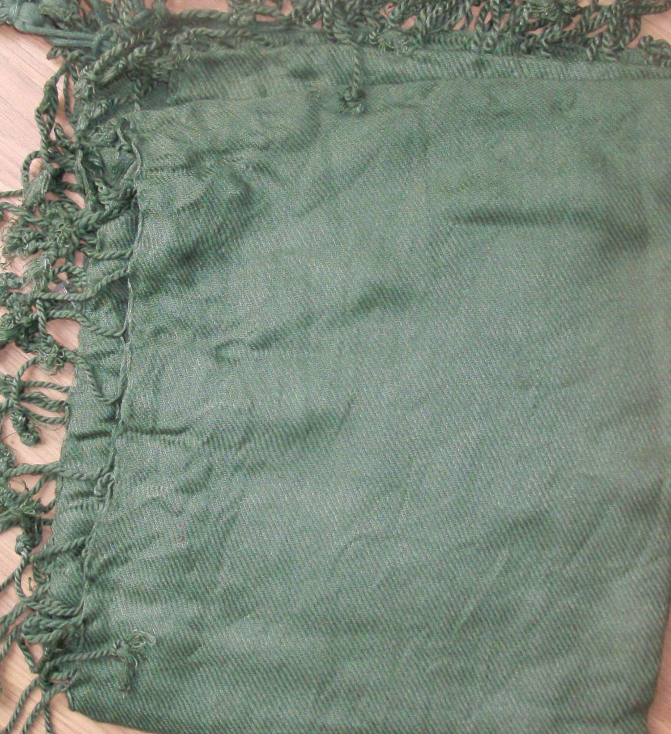 Quilted tichel army green