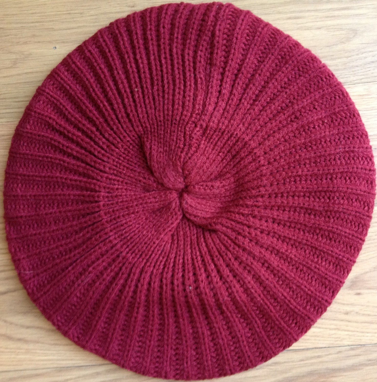 Plain beret  maroon