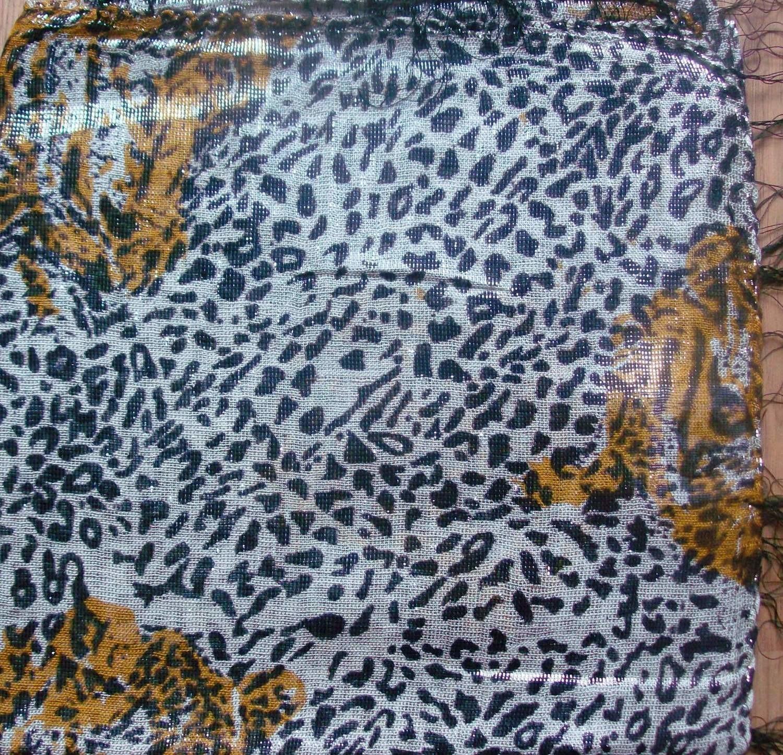 Wild side shimmering animal print tichel