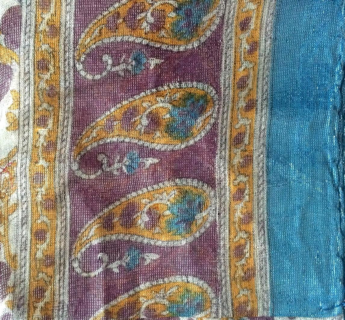 Blue shimmer headscarve tichel